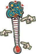 Thermometer,Fundraiser,Char...
