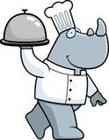 Serving,Rhinoceros,Smiling,...