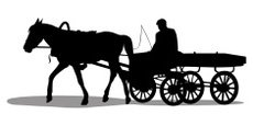 Carriage,Horse,Farmer,Silho...