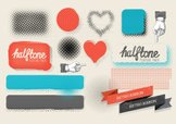 Halftone Pattern,Vector,Cre...