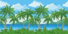 Island,Beach,Palm Tree,Trop...