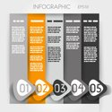 Infographic,Five Objects,Nu...