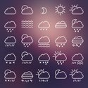 Icon Set,Cloud - Sky,Rain,S...