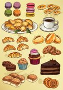 Bakery,Food,Drawing - Art P...