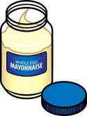 Food,Mayonnaise,Blue,Three ...