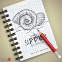 Summer,Beach,Paper,Sketch P...