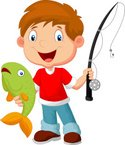 Child,Fishing,Fisherman,Vec...