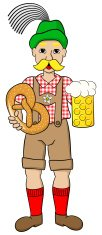 Cartoon,Oktoberfest,Men,Gla...