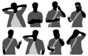Smart Phone,Silhouette,Men,...