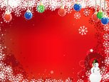 Backgrounds,Snowman,Red,Chr...