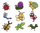 Ant,Cartoon,Insect,Dragonfl...