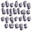 Alphabet,Three-dimensional ...