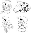 Coloring,Bear,Page,Outline,...