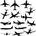 Airplane,Silhouette,Travel,...
