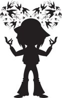 Ilustration,Silhouette,Swal...