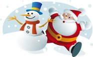 Snowman,Santa Claus,Winter,...