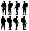 Armed Forces,Silhouette,Arm...