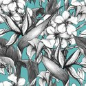 Pattern,Hibiscus,Tropical R...