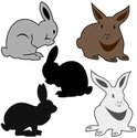 Rabbit - Animal,Silhouette,...