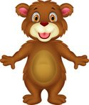 Bear,Cartoon,Brown,Characte...