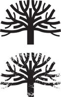Tree,Symbol,Black And White,G…