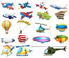 Parachuting,Vector,Hanging,...