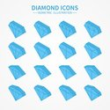 Diamond,Isometric,Backgroun...