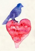 Heart Shape,Watercolor Pain...