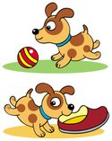 Puppy,Dog,Cartoon,Vector,Pl...