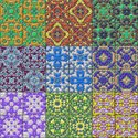 Square,Mosaic,Backgrounds,K...