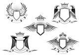 Wing,Shield,Gothic Style,Re...