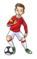 Goalie,Ilustration,Kicking,Dr…