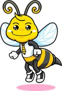Bee,Cartoon,Animal,Honey,M...