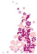 Pink Color,Swirl,flourishes...