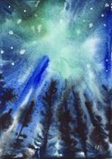 Blue,Abstract,Watercolor Pa...