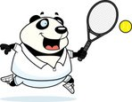 Animal,Playing,Tennis,Hitti...