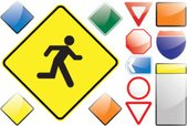 Running,Escape,Road Sign,St...