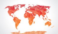 World Map,Geometric Shape,S...