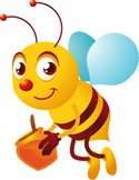 Bee,Cartoon,Honey Bee,Honey...