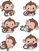 Monkey,Young Animal,Cute,An...