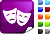 Theater Mask,Theatrical Per...