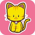 Domestic Cat,Cute,Cartoon,K...