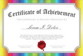 Certificate,Multi Colored,t...