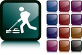 Curling,Stick Figure,Icon S...