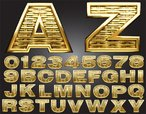 Gold,Shiny,Alphabet,Abstrac...