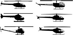 Helicopter,Silhouette,Vecto...