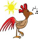 Rooster,Sun,Morning,Cheerfu...