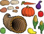 Cornucopia,Vegetable,Fruit,...