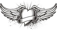 Tattoo,Heart Shape,Artifici...