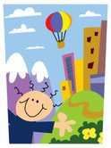 Child,City,Hot Air Balloon,...